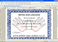 British Sign Language Online   Course 618582 Image 0